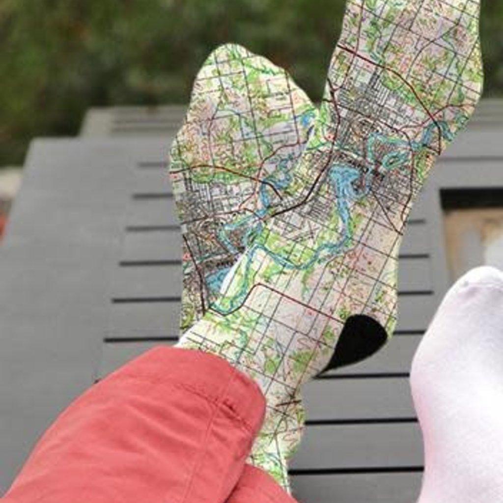 Volume One Socks - Eau Claire Map