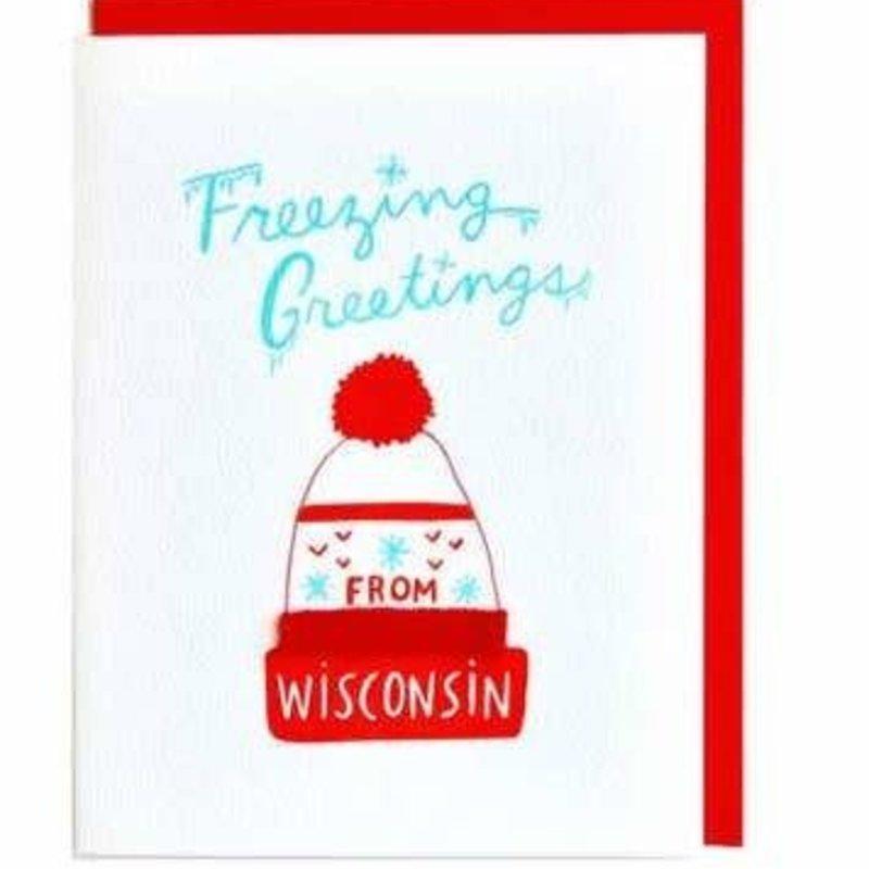 Cracked Designs Greeting Card - Freezing Greetings