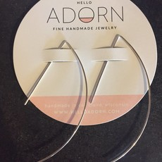 Adorn Jewelry Archery Hoops earring (Silver)