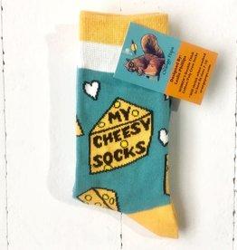 Orange Pops Crew Socks - Cheese