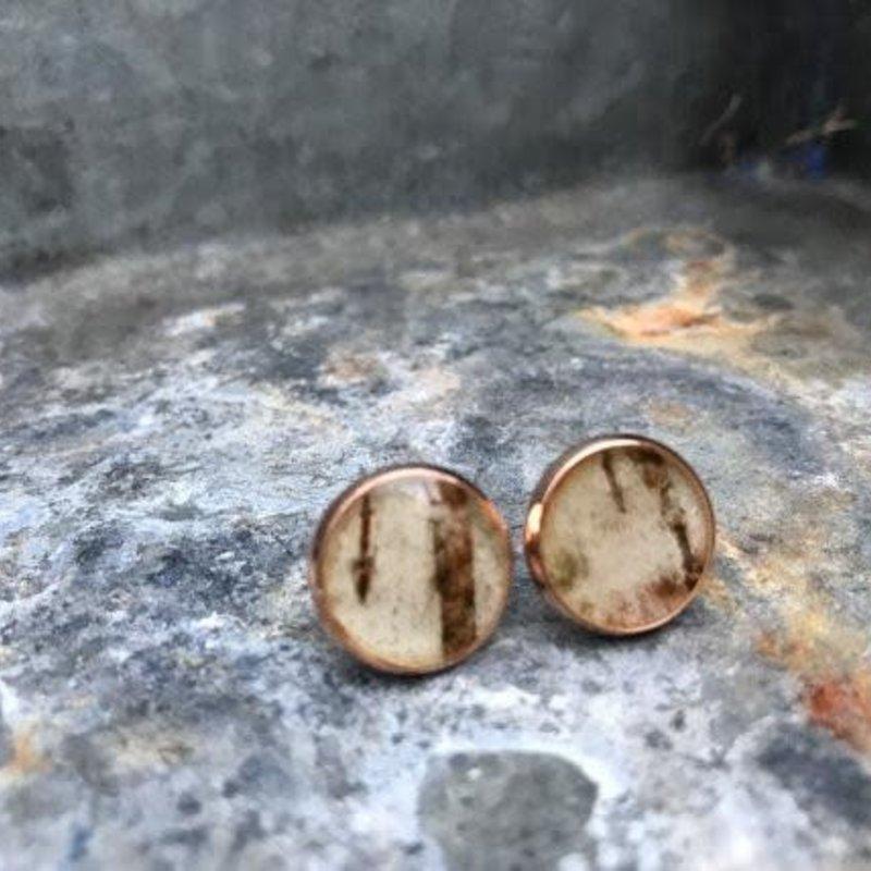 Nature of Art Birch Bark Stud Earrings
