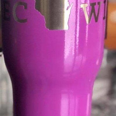 Iverson Custom Coatings ECWI Tumbler - Plum