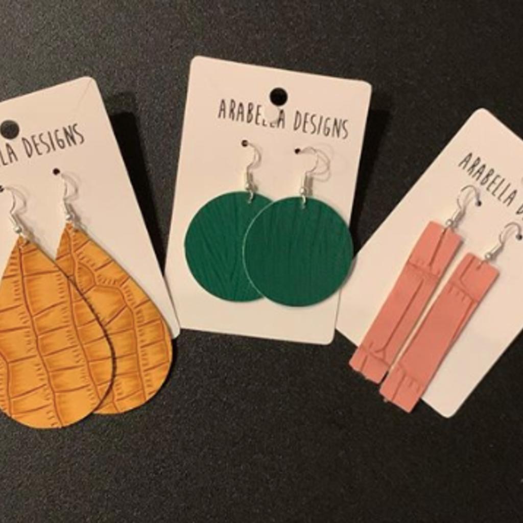 Arabella Designs Faux Leather Earrings - Assorted