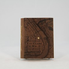 Tactile Craftworks Eau Claire Map Leather Journal