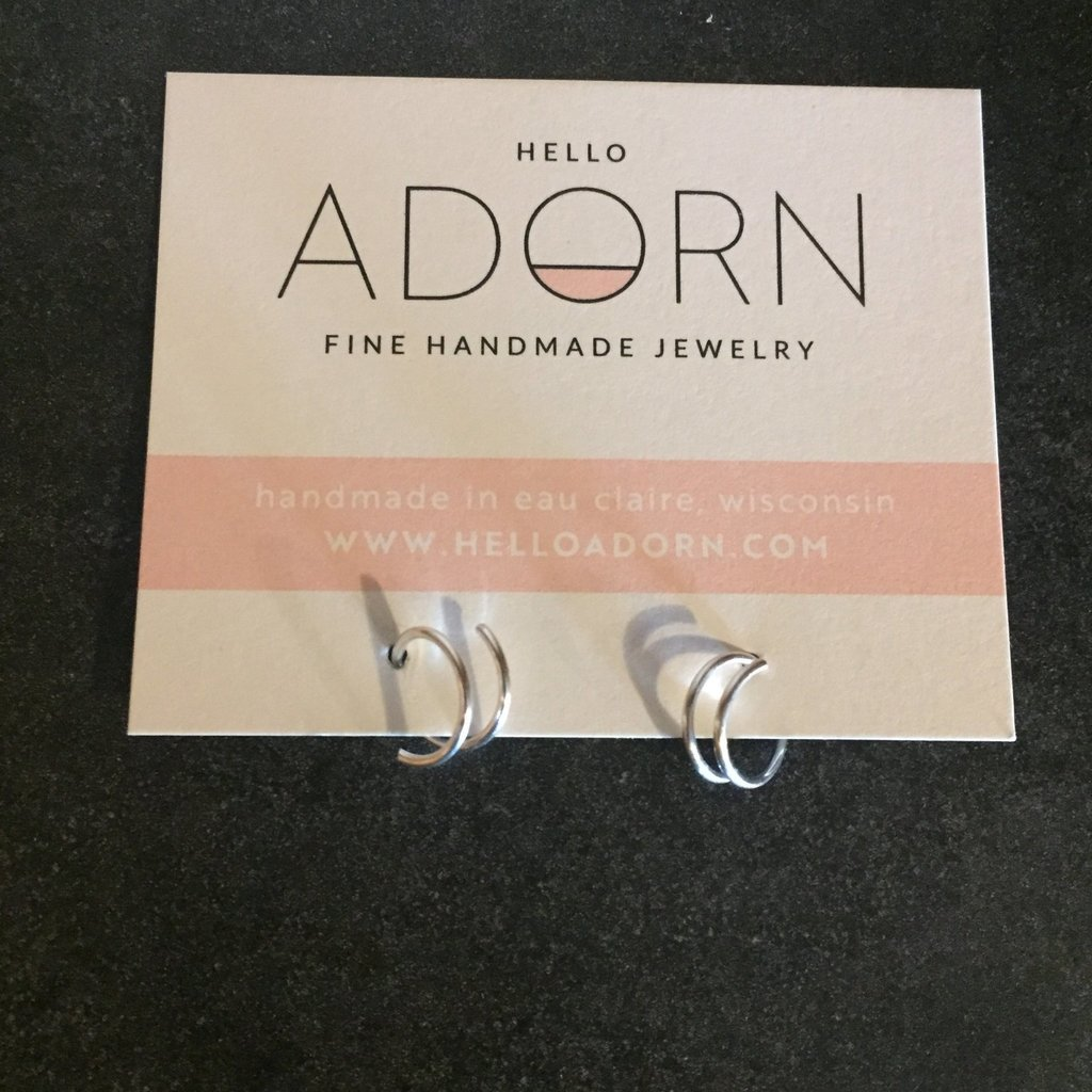 Adorn Jewelry Tiny Twist Earrings (Silver)