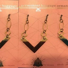 Permanent Baggage Brass V-Necked Necklace (Assorted)