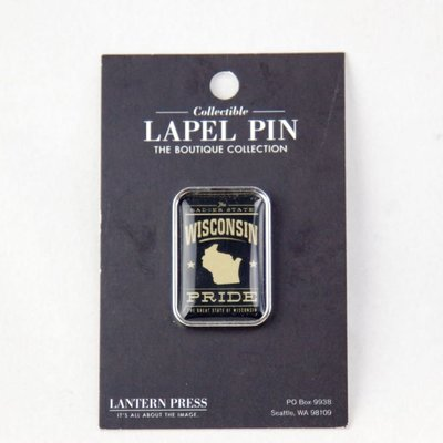 Volume One Lapel Pin - Wisconsin Pride (Black)
