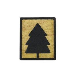 Tree Hopper Toys Lapel Pin - Evergreen Tree (Wood)