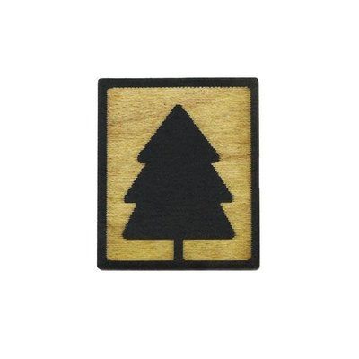 Tree Hopper Toys Lapel Pin - Evergreen Tree (Wood)