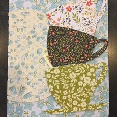 Gazelle Sentiments Teacups Greeting Card