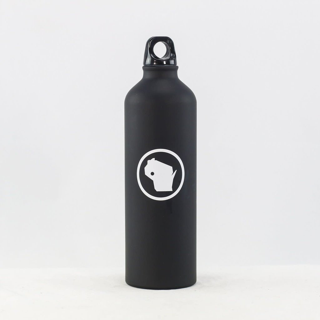 Volume One Stainless Steel Bottle - Matte Black WI Stamp (24 oz.)