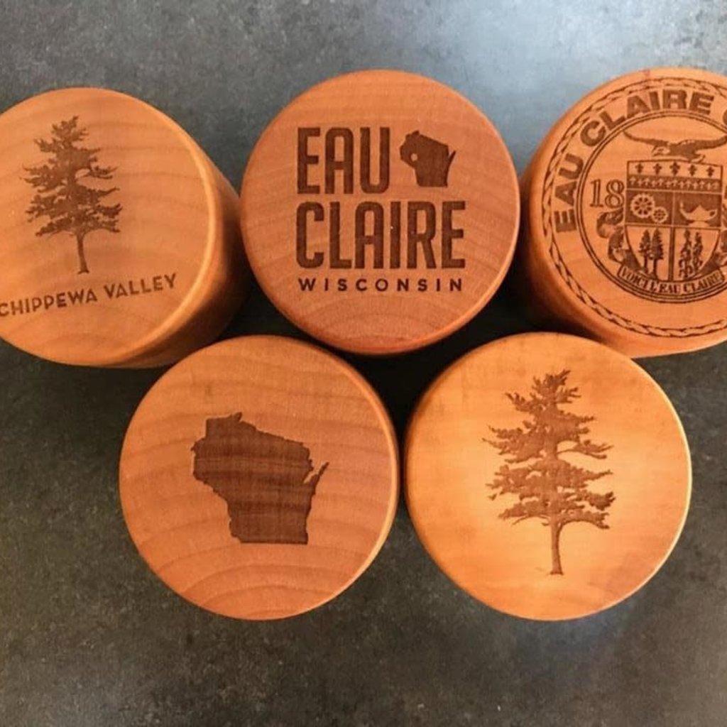 Create Laser Arts Small Wood Box - Plain Wisconsin Shape