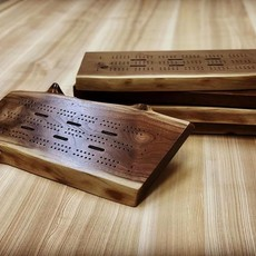 Tree Purpose of Eau Claire Live Edge Walnut Cribbage Board (3-Player)