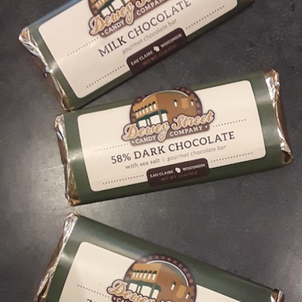 Dewey Street Candy Co. Candy Bar - 72% Dark Chocolate