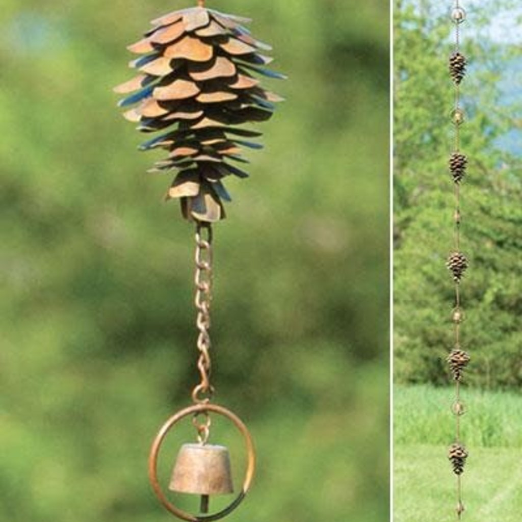 Volume One Rain Chain - Pine Cone