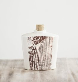 Tandem Ceramics Ceramic Flask - Woodgrain