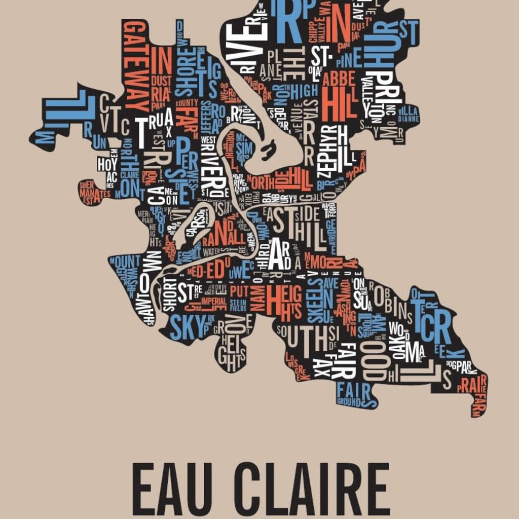 Volume One Eau Claire Neighborhoods Print Full Color