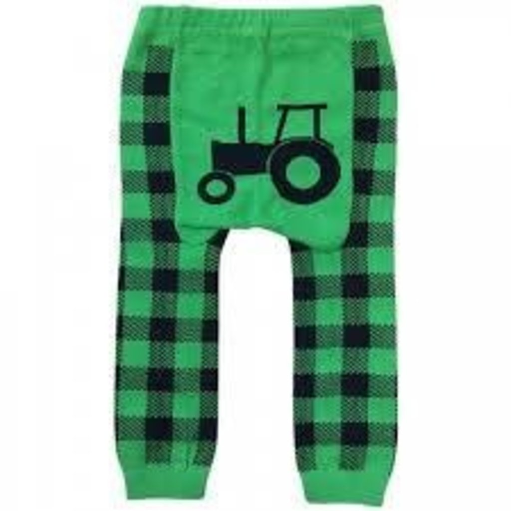 Volume One Kids Leggings - Tractor + Green