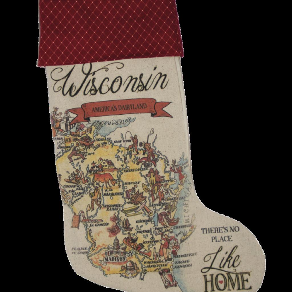Volume One Vintage Wisconsin Stocking (Tan)