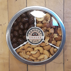 Sawdust City Snacks Three-Way Tin - Assorted Nut Mix