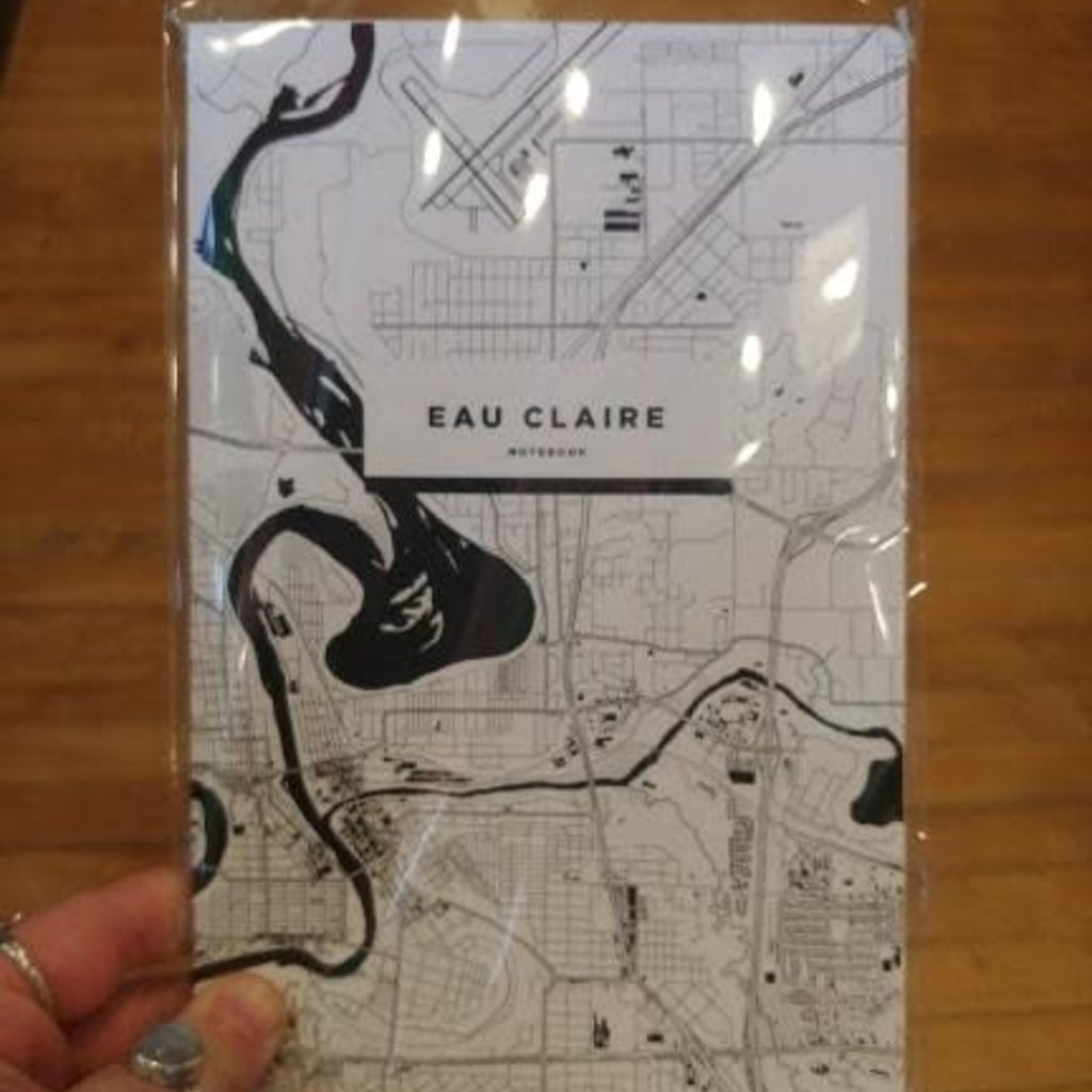 iLikeMaps Notebook - Eau Claire Map (Black & White)