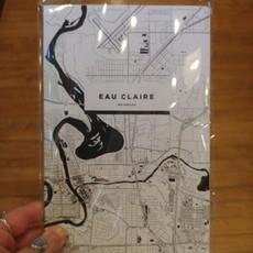 iLikeMaps Notebook - Eau Claire Map (Black & White)