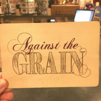 Volume One Against the Grain Wood Greeting Card