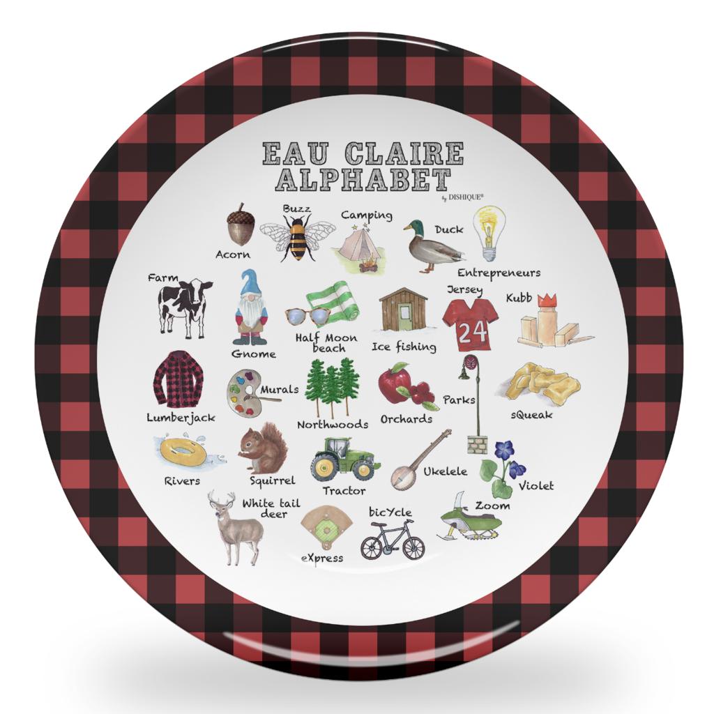 dishique Kid's Plate - Eau Claire Alphabet