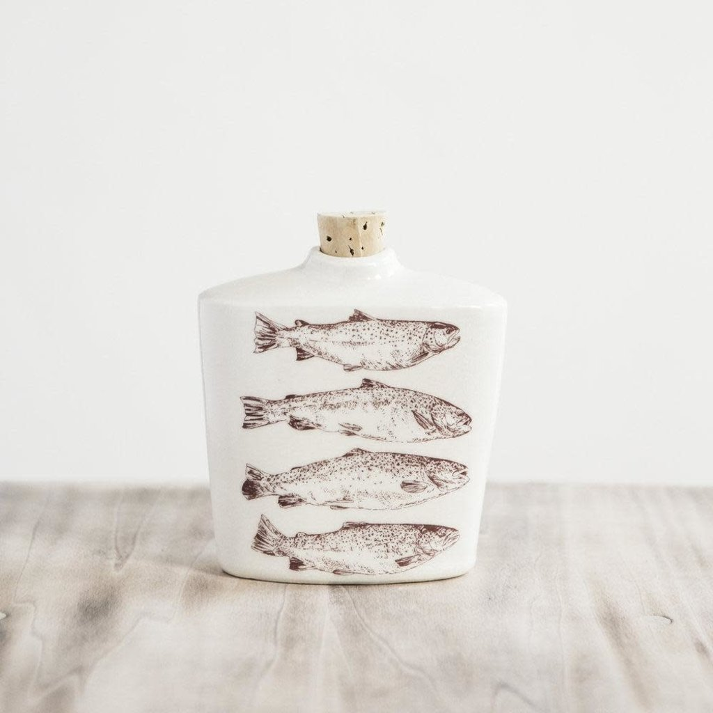 Tandem Ceramics Ceramic Flask - Fish (Trout)