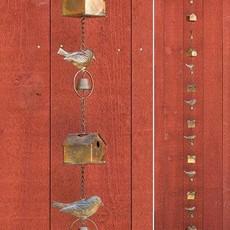 Volume One Rain Chain - Bird House + Birds