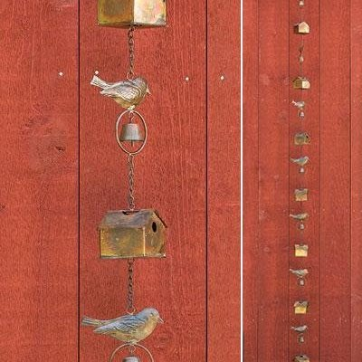 Volume One Rain Chain - Bird House + Birds