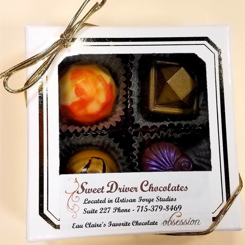 Sweet Driver Chocolates 4-Piece Truffle Box (Assorted)