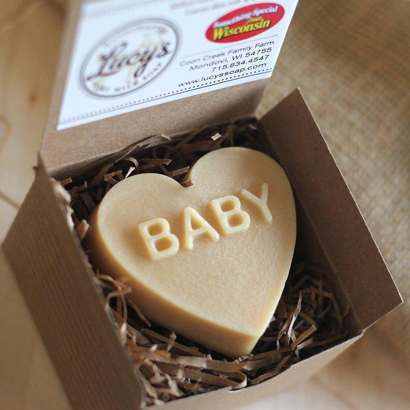 "Lucy's Goat Milk Soap Lucy's Goat Milk Soap - ""Baby"" Heart"
