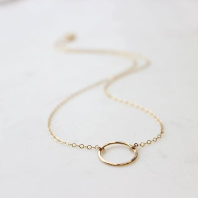 Adorn Jewelry Full Circle Necklace - Silver