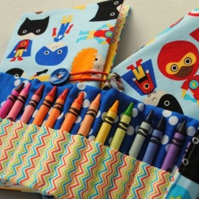 Kiki b Omi Designs Crayon Roll - Bear