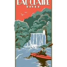 Volume One Vintage Tourism Poster - Eau Claire River