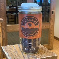 Tactile Craftworks Leather Travel Mug - Eau Claire Forest (Trees)