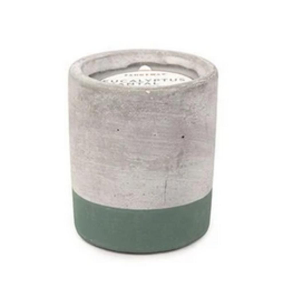 Paddywax Candles Concrete Candle - Small Eucalyptus & Santal (3.5oz)