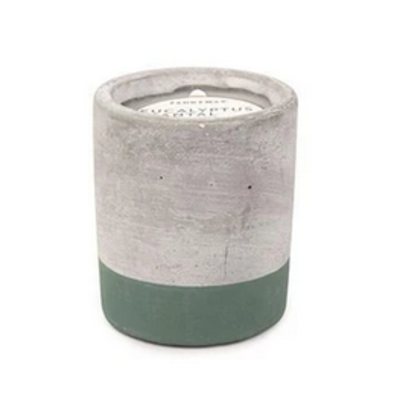 Paddywax Candles Concrete Candle - Small Eucalyptus & Santal (3.5oz)