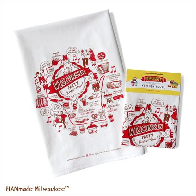 HANmade Milwaukee Kitchen Towel: Wisconsin Party Know-How