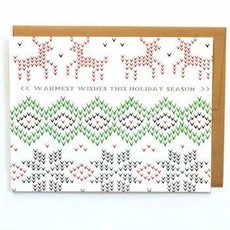 Cracked Designs Greeting Card - Chirstmas Sweater