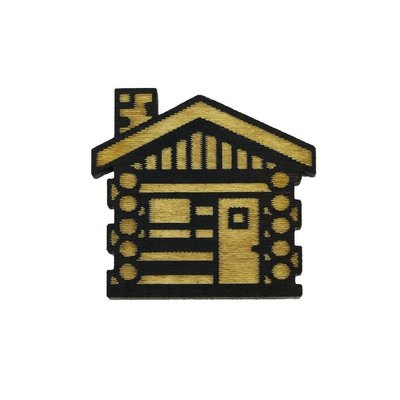 Tree Hopper Toys Lapel Pin - Cabin (Wood)