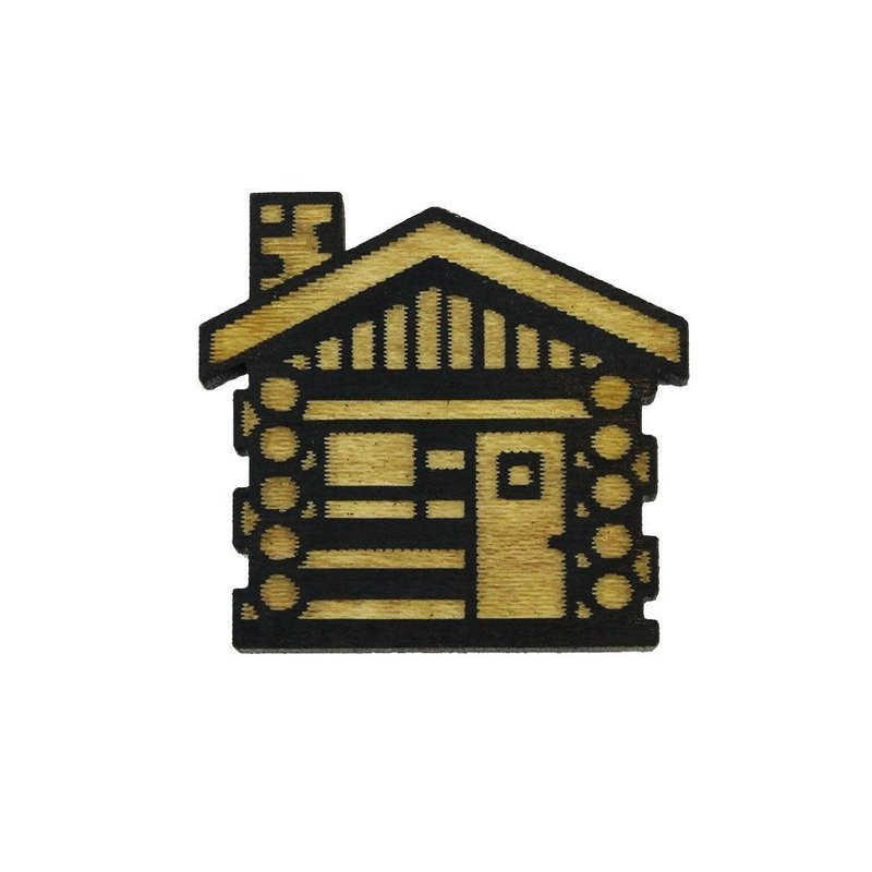 Tree Hopper Toys Lapel Pin - Cabin (Wood)