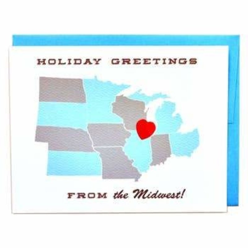 Cracked Designs Greeting Card - Midwest Holiday