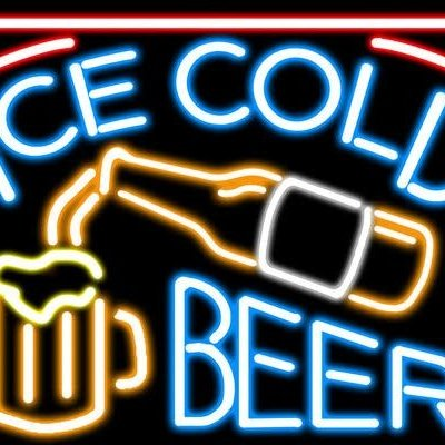 Volume One Metal Sign - Ice Cold Beer