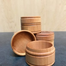 Create Laser Arts Small Round Wood Box - Plain Pine Tree