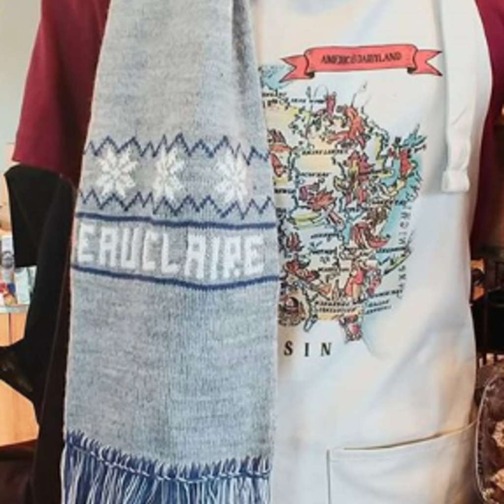 Volume One Eau Claire Scarf (Gray & Blue)