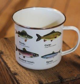 Gift Republic Enamel Mug - Fish