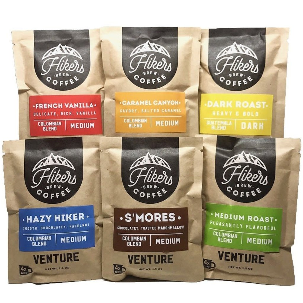 Hikers Brew Coffee Venture Pouch - 6 Pack Sampler