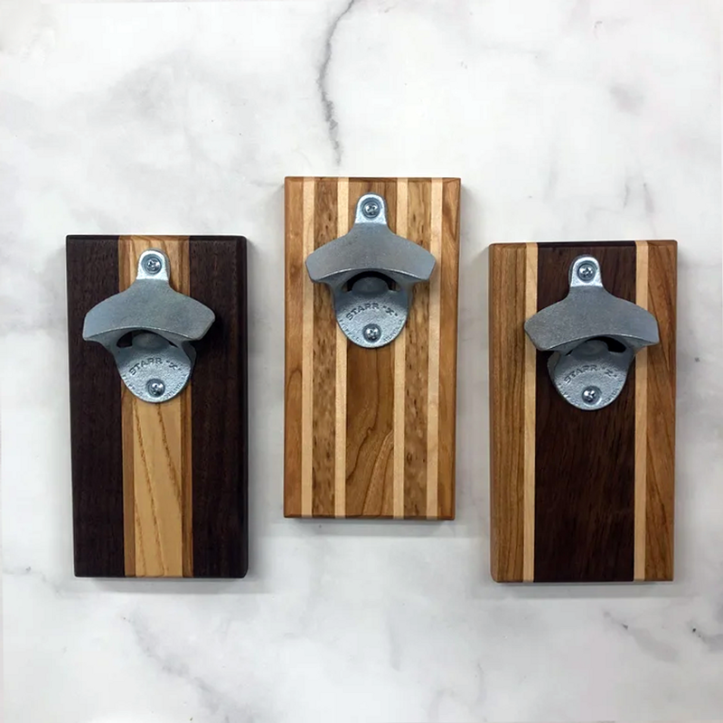 Endle Home Goods Wood Magnetic Bottle Opener (Plaque)